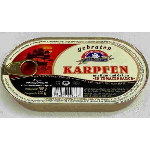 Карп обжаренный в томатном соусе 180 гр