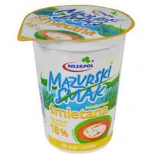 "Сметана ""Mazurski Smak"" 18% 400 гр"