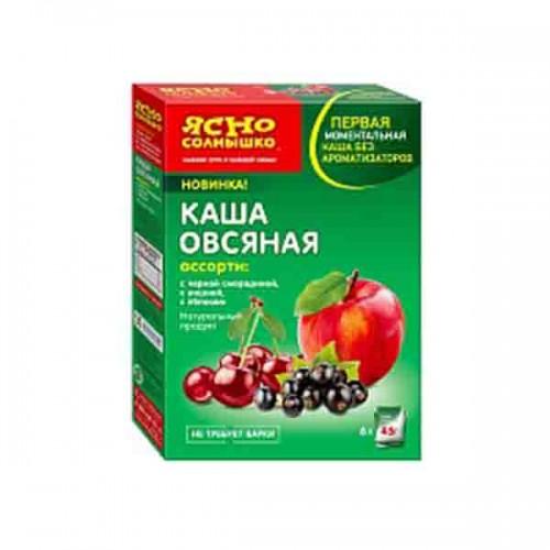 Каша овсяная не требует варки с кусочками фруктов и ягод 270 гр