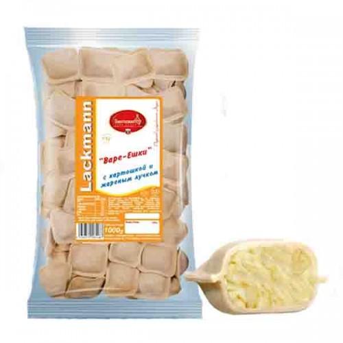 """Вареники """"Варе-Ешки"""" с картошкой и жареным лучком 1000 гр"""