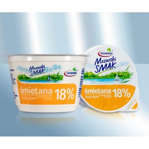 "Сметана ""Mazurski Smak"" 18% 200 гр"