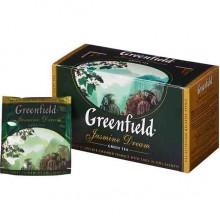 Зеленый чай Жасмин  в пакетиках в индивидуальной упаковке, 25х2гр