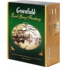 Гринфилд Эрл Грей черный чай  с бергамотом в пакетиках (100х2г)