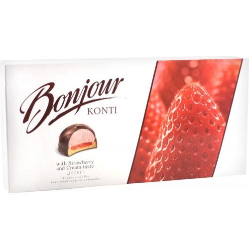 """Десерт """"Bonjour souffle"""" вкус клубники со сливками"""