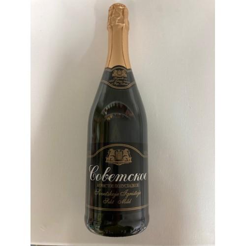 """Шампанское """"Советское"""" полусладкое 11,5% алк."""