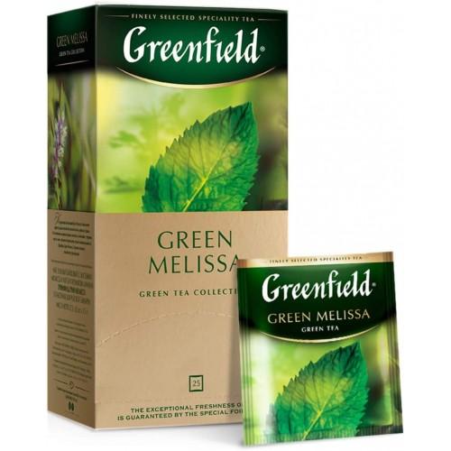"""Зеленый чай с мелиссой и мятой """"Green Melissa"""" в пакетиках в индивидуальной упаковке, 25х1,5гр"""