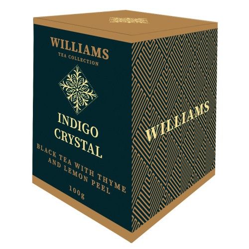 """Чай черный байховый цейлонский """"Вилльямс Индиго Кристал"""" с натуральным чабрецом и цедрой лимона, рассыпной"""